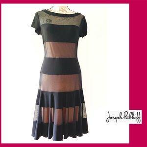 Black Midi Flare Dress